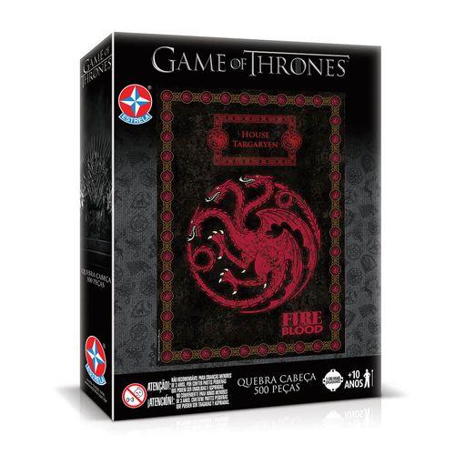 Quebra-Cabeça Game of Thrones Casa Targaryen Embalagem Estrela