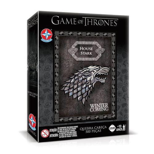 Quebra-Cabeça Game of Thrones Casa Stark Embalagem Estrela