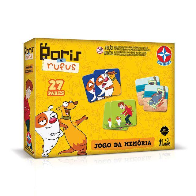Jogo da Memória Bóris e Rufus Embalagem Estrela