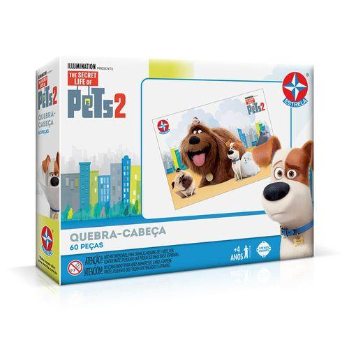 Quebra-Cabeça Pets 2 60 peças Embalagem Estrela