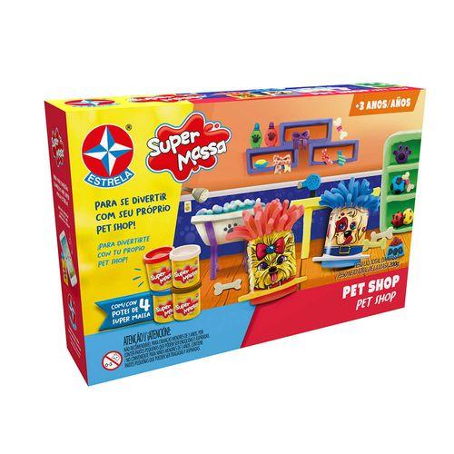Massinha Super Massa Pet Shop Embalagem Estrela