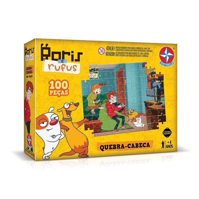 Quebra-Cabeça Bóris e Rufus 100 peças Embalagem Estrela