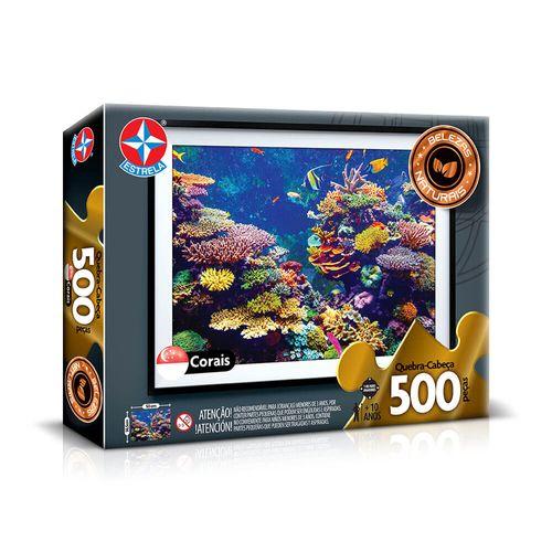 Quebra-Cabeça Corais 500 peças Embalagem Estrela