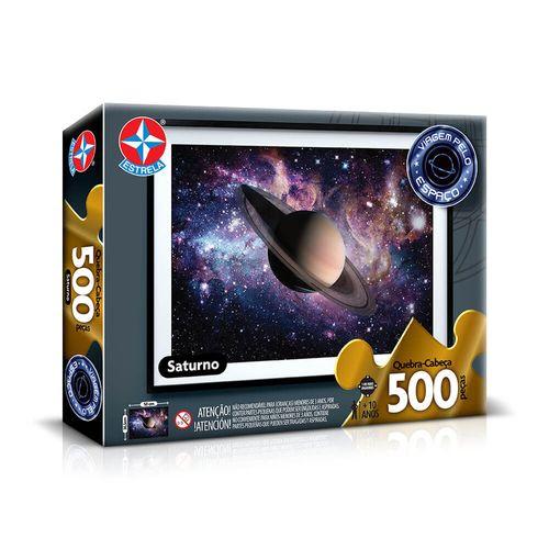 Quebra-Cabeça Saturno 500 peças Embalagem Estrela