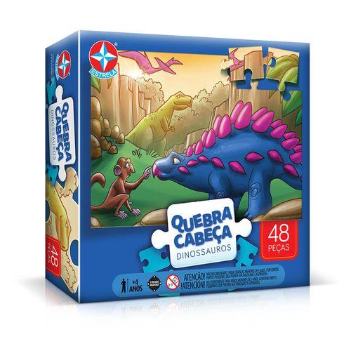 Quebra-Cabeça Grandão Dinossauros 48 peças Embalagem Estrela