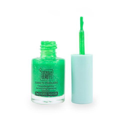 Esmalte-Perolado-Verde-Fashion-destampado-Produto-Estrela-Beauty