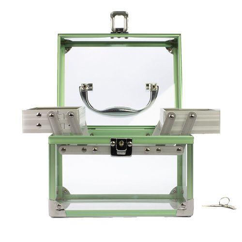 Maleta-de-Acrilico-Verde-aberta-Produto-Estrela-Beauty