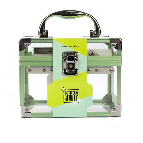 Maleta-de-Acrilico-Verde-Embalagem-Estrela-Beauty