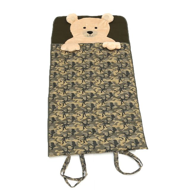 Saco de Dormir Soneca Camuflado Estrela Baby aberto frente Produto Estrela