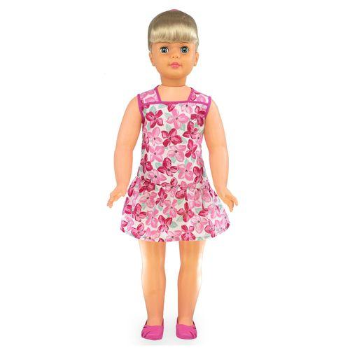 Boneca Amiguinha Vestido Rosa frente Produto Estrela