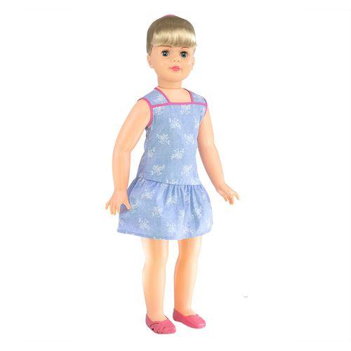 Boneca Amiguinha Vestido Azul lateral Produto Estrela