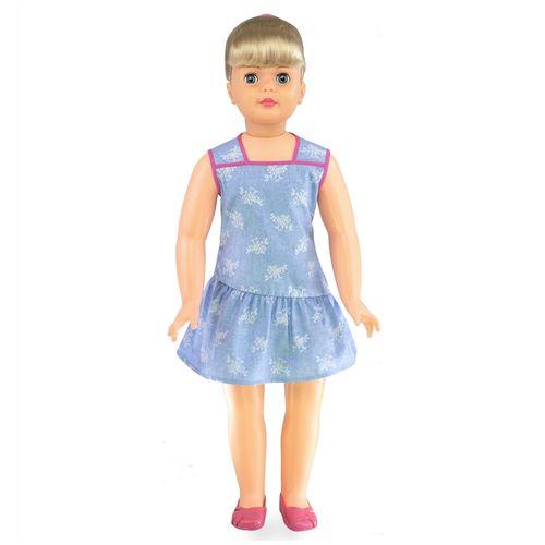 Boneca Amiguinha Vestido Azul frente Produto Estrela