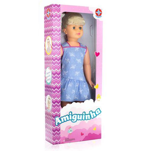 Boneca Amiguinha Vestido Azul Embalagem Estrela