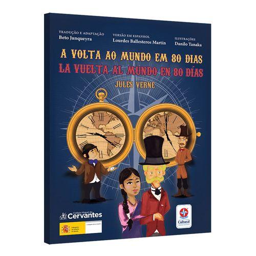 Livro-A-Volta-ao-Mundo-em-80-dias-bilingue-espanhol-Estrela-Cultural