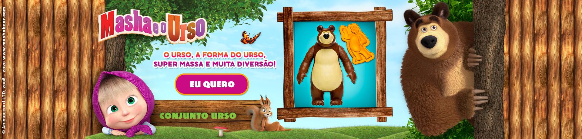 Conjunto Urso - Masha e o Urso